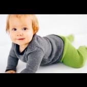 Legging met brede ribbels bio-wol