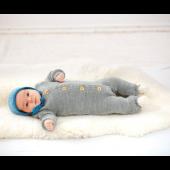 Gebreide baby-overall bio-wol