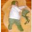 Babymutsje wol/zijde groen